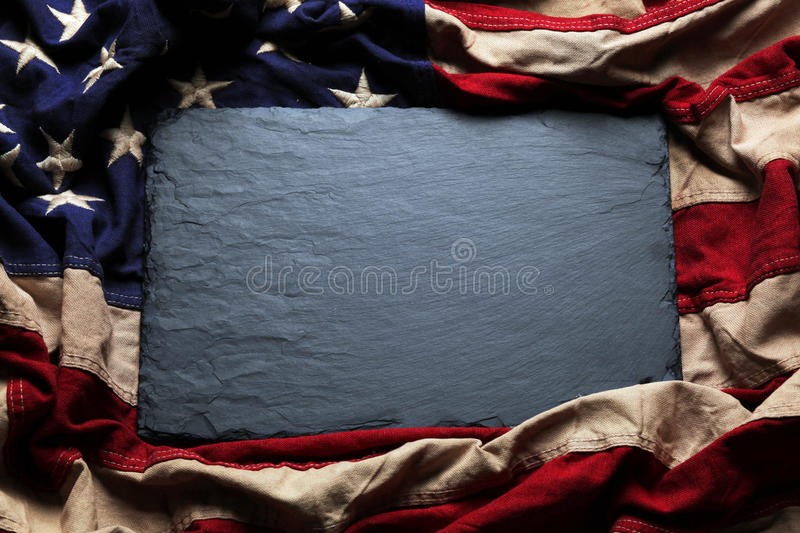 American flag background for Memorial Day or 4th of July. Old American flag background for Memorial Day or 4th of July stock photo