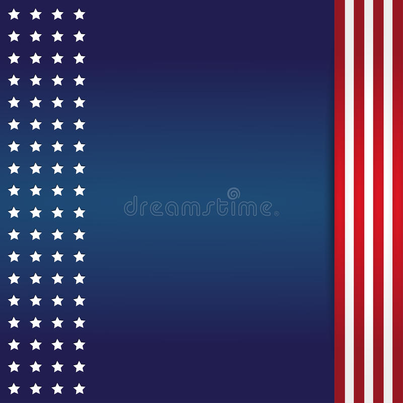 American Flag Background vector illustration