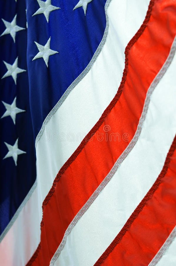 American Flag. A backlit image of the American flag royalty free stock photo