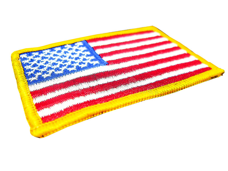 American flag badge royalty free stock photos