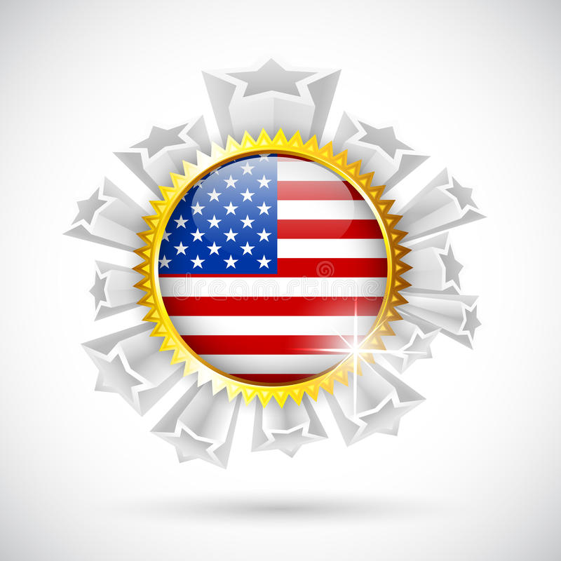 Download American Flag Badge Stock Photos - Image: 31405003