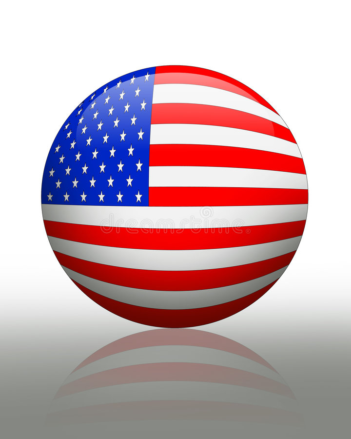 American Flag banner button royalty free illustration