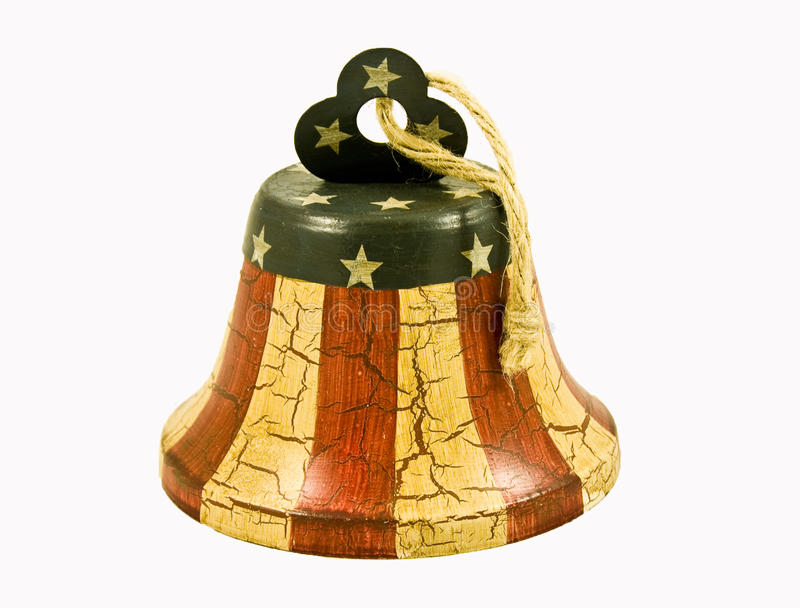 American Flag Bell royalty free stock image
