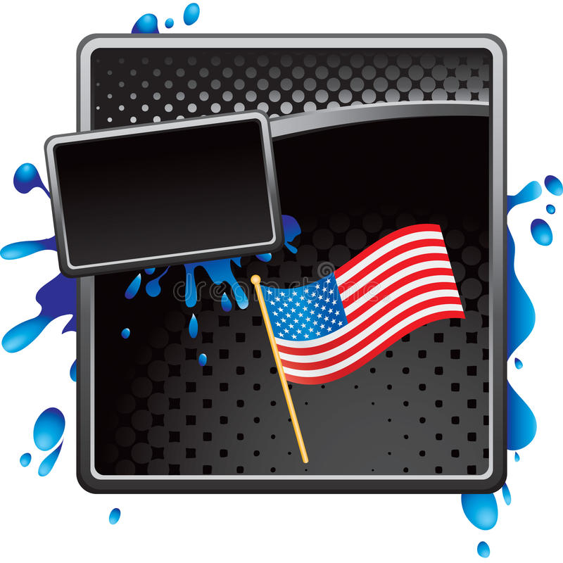 Download American Flag On Black Halftone Grungy Banner Stock Image - Image: 11486361