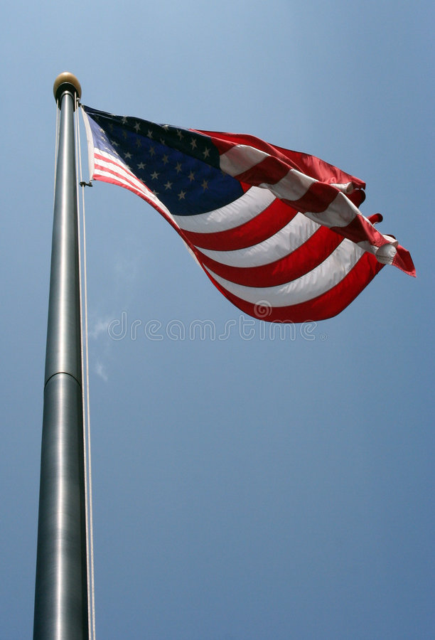 Download American Flag Blowing stock image. Image of flown, star - 2718039