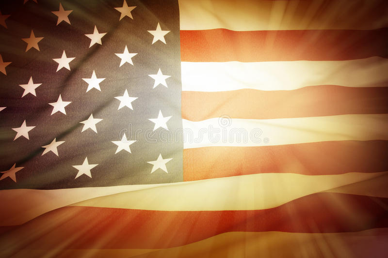 American flag. Brightly lit American flag background royalty free stock photos