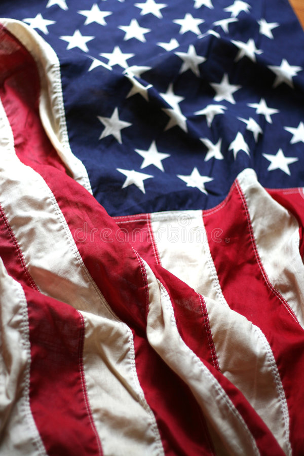 American Flag Close Up 4 stock image