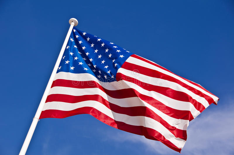 American flag. Close up of an american flag stock image