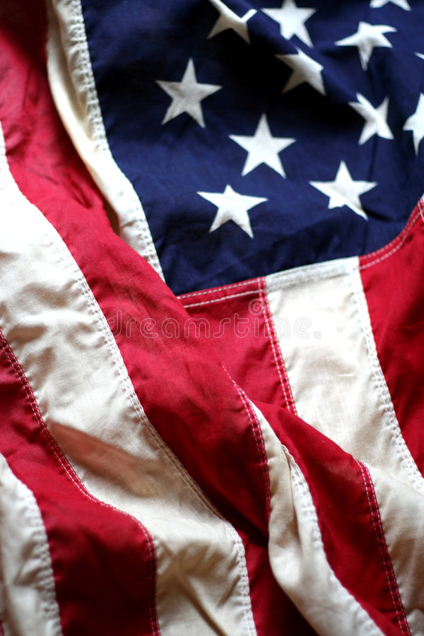 Free American Flag Close Up 5 Royalty Free Stock Photography - 2518377