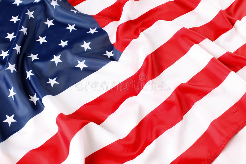 American flag. Close up of American flag royalty free stock image