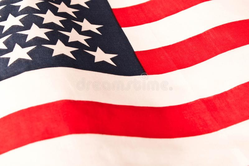 American flag. Close up. American flag background. Concept of patriotism.  royalty free stock photography