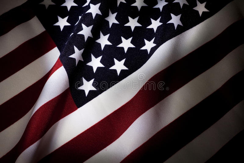 American Flag. Close up for background royalty free stock photography