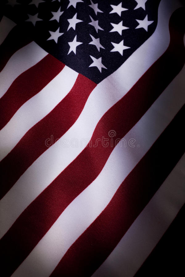 American Flag. Close up for background stock photo