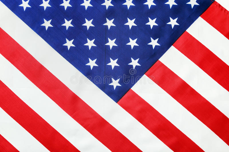 American flag Close-up. Focus on flag stars royalty free stock image