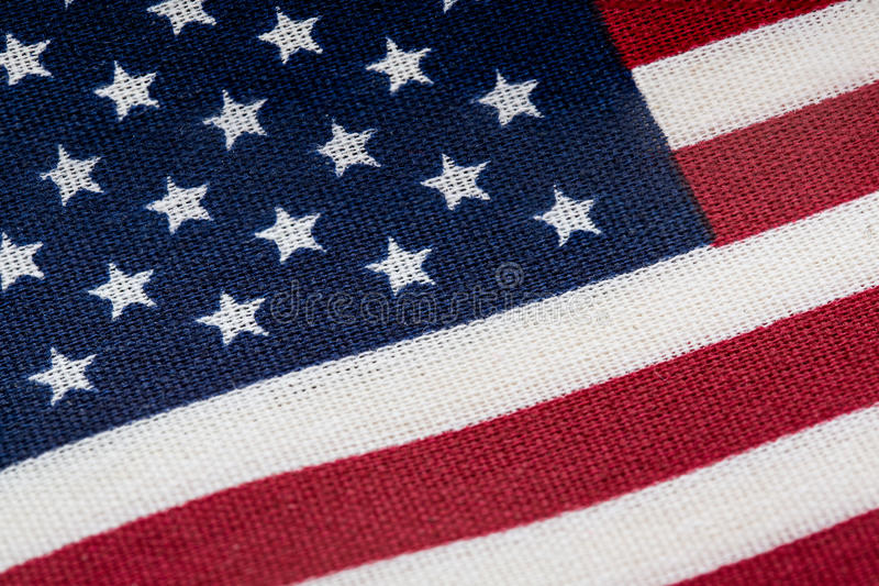 American flag close up. Macro stars and stripes stock photography