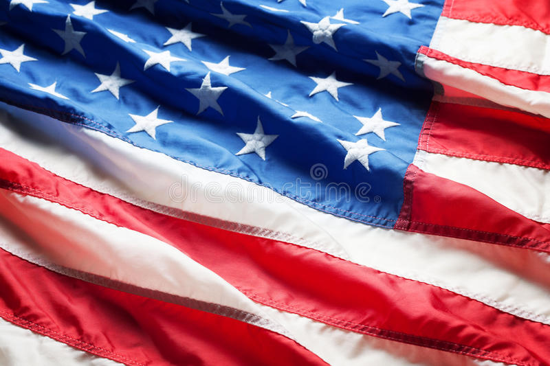 American flag close up stock image