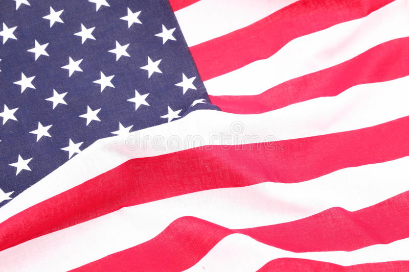 American flag. Close up view as background royalty free stock image