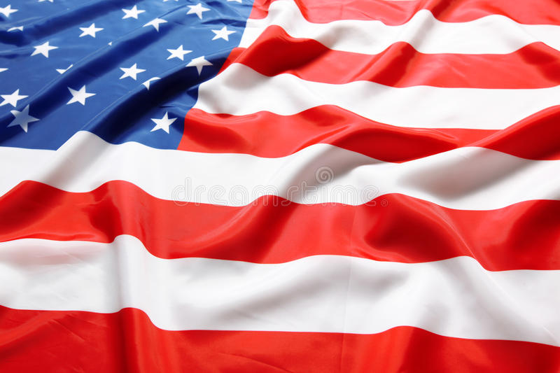 American flag. Closeup of the American flag stock images