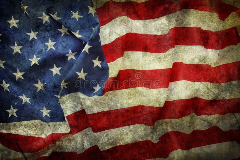 American flag. Closeup of grunge American flag stock photo