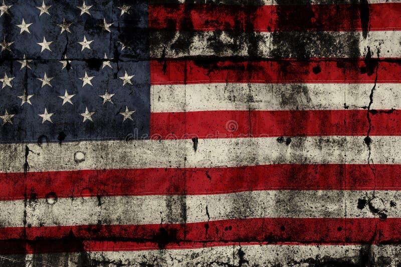American flag. Closeup of grunge American flag stock photos