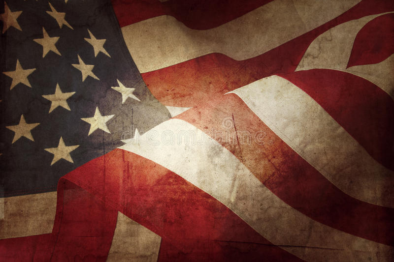 American flag. Closeup of grunge American flag royalty free stock images
