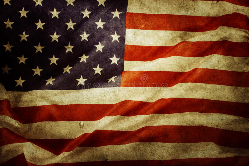 American flag. Closeup of grunge American flag royalty free illustration