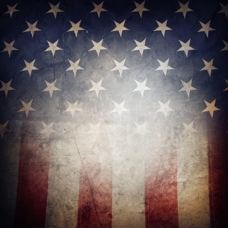 American flag. Closeup of grunge American flag royalty free stock photos