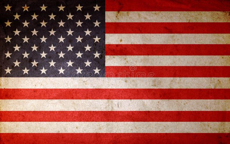 American flag. Closeup of grunge American flag vector illustration