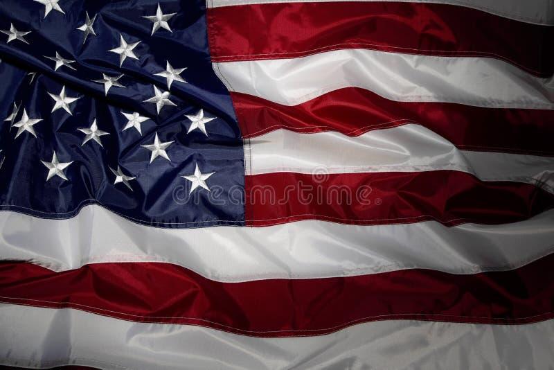 American flag. Closeup of ruffled American flag royalty free stock photos