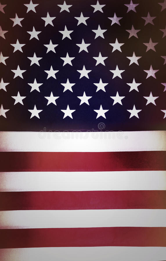 American flag. Closeup of stars and stripes of American flag stock photo