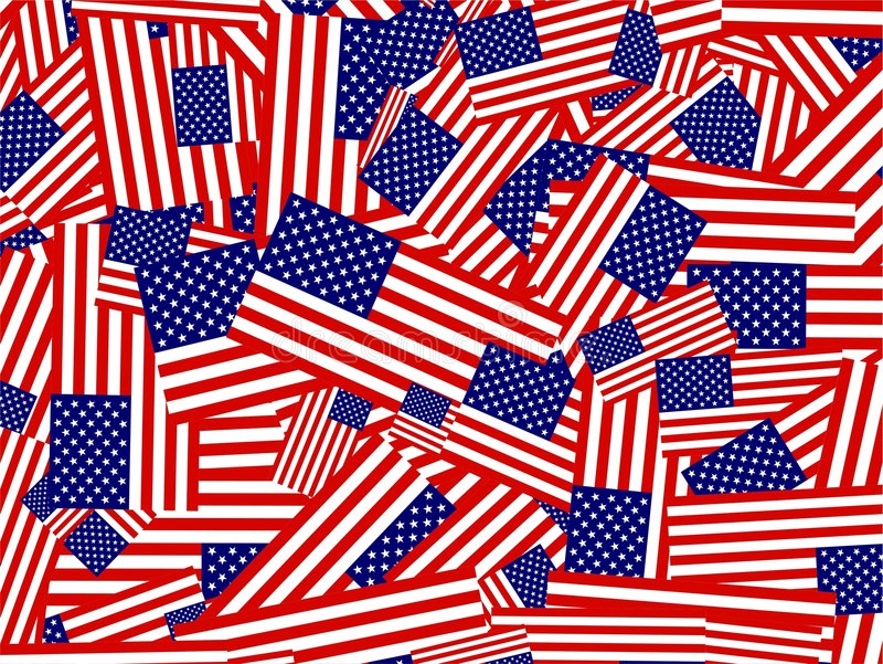 American flag collage royalty free illustration