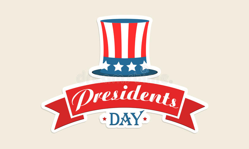 American flag color hat for Presidents Day celebration. vector illustration