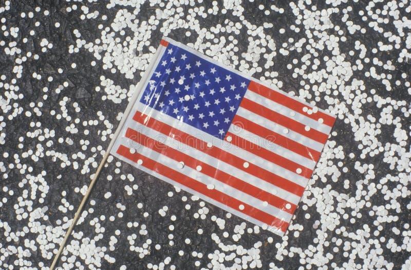 American Flag and Confetti
