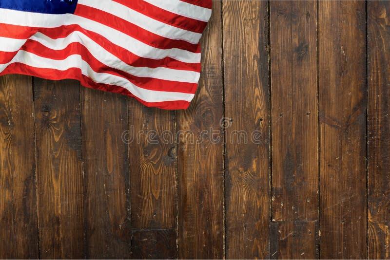 American Flag. Flag American Culture USA Waving Sky The Americas stock photo