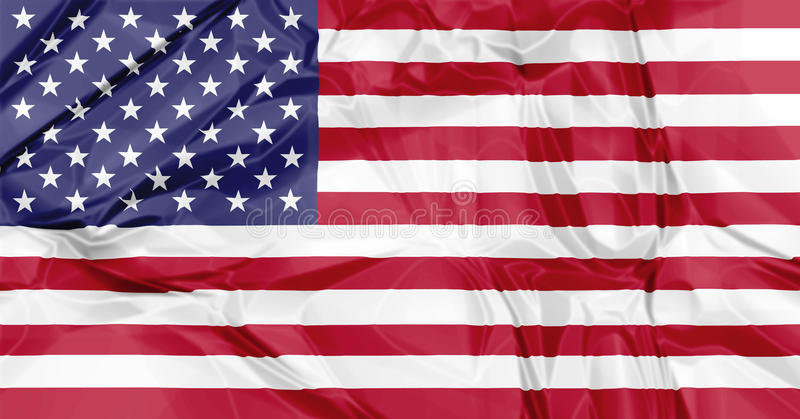 American Flag. 3D waving American flag background with fifty stars and red white stripes, America US stock photography