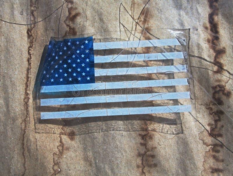 Download American flag decal stock image. Image of decrepit, national - 13692875