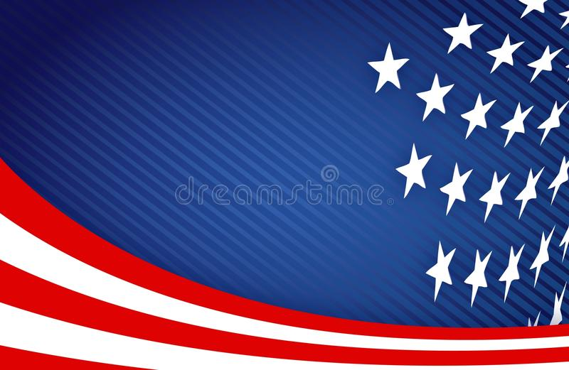 American Flag Design stock illustration