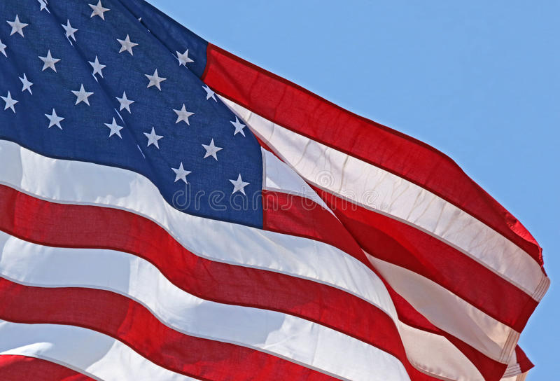 American Flag Detail stock image