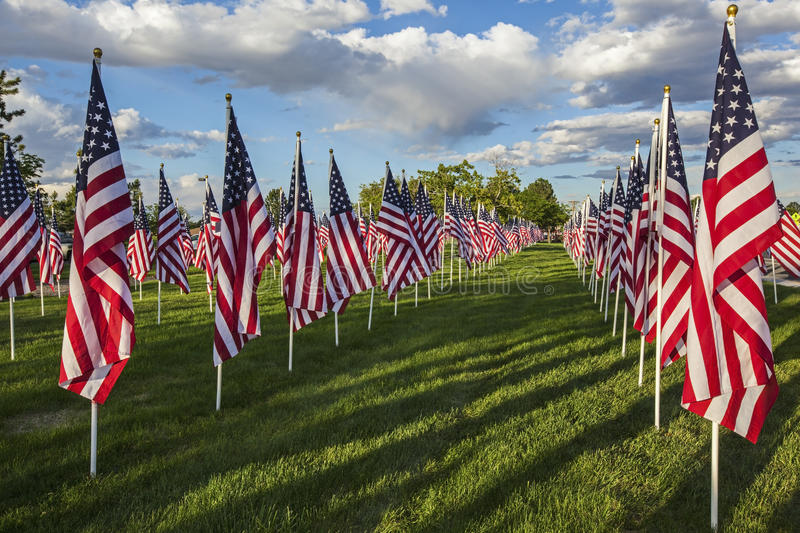 Display American flag independence day stock photo