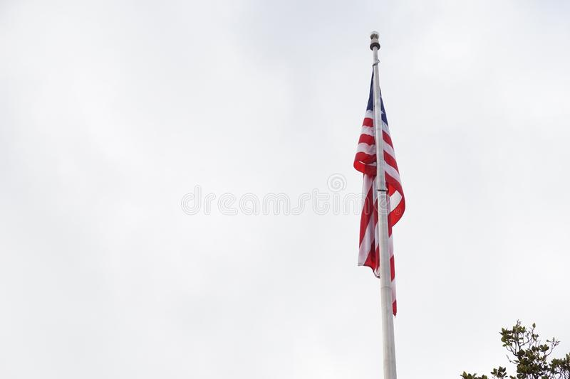 American Flag, down with no wind royalty free stock images