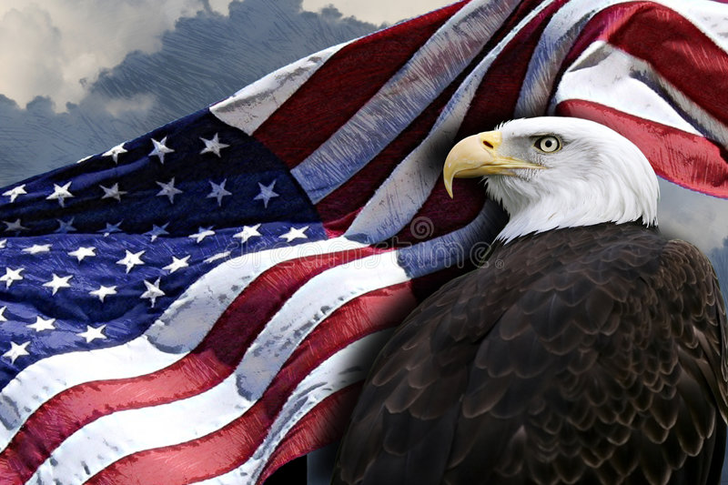 Download American flag and eagle stock image. Image of eagle, stars - 2674009
