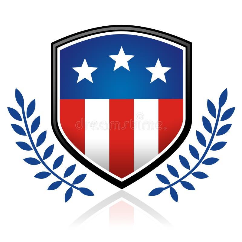 Download American flag emblem stock illustration. Illustration of shield - 2393931