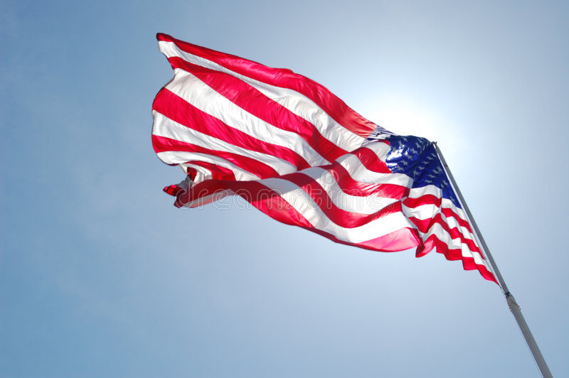 An American Flag flapping royalty free stock images