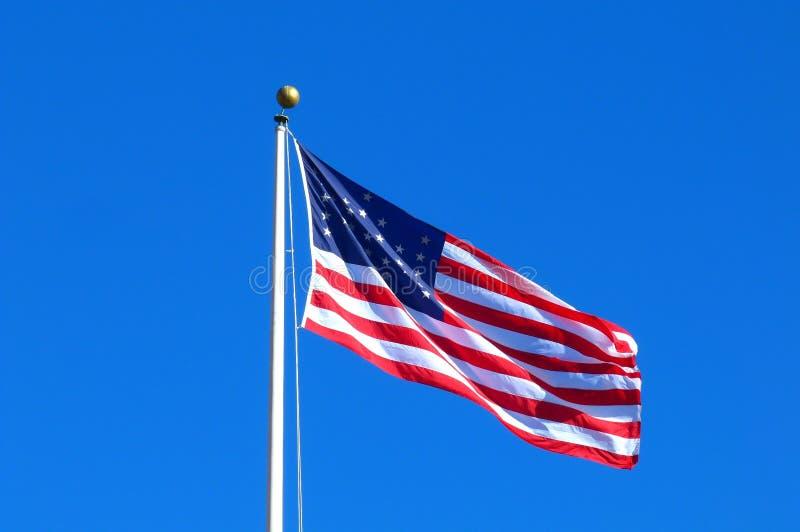 American Flag. At Fort Point ( San Francisco - California royalty free stock image