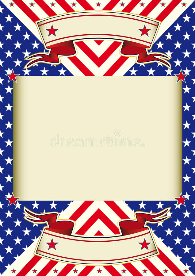 American Flag Frame Background Stock Vector - Illustration of ...