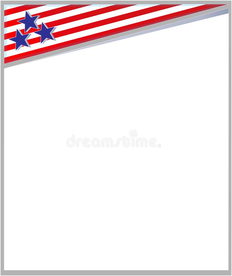 american flag frame border template design booklet stock vector