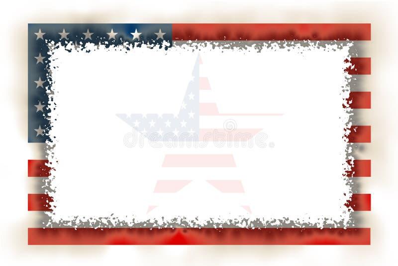 American Flag Frame Burnt. American Burnt Frame with Star Inside / Hight Quality royalty free illustration