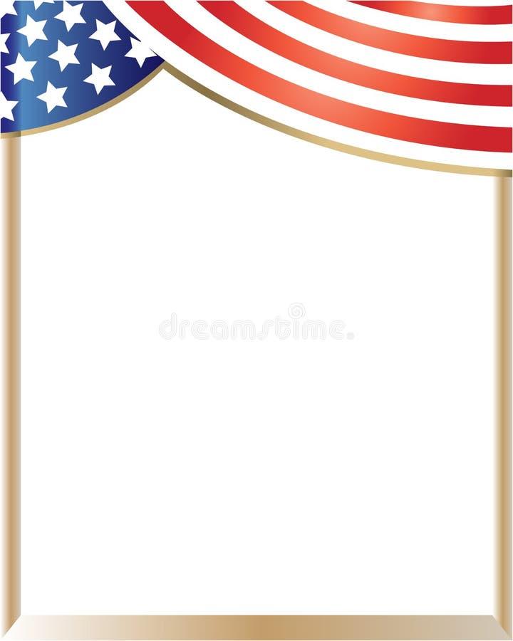American Flag Frame Curtain Stock Vector - Illustration of ...
