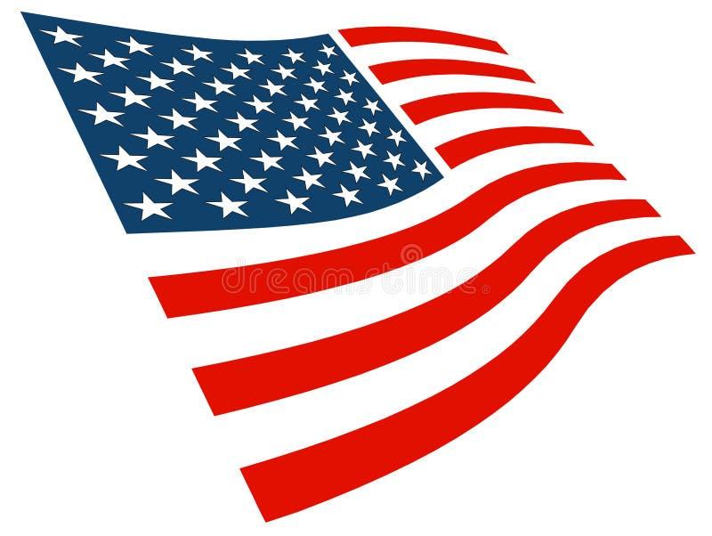 American Flag Graphic royalty free illustration