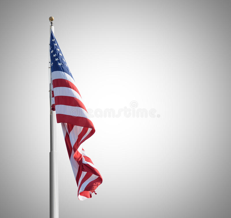 American flag. On gray background stock images
